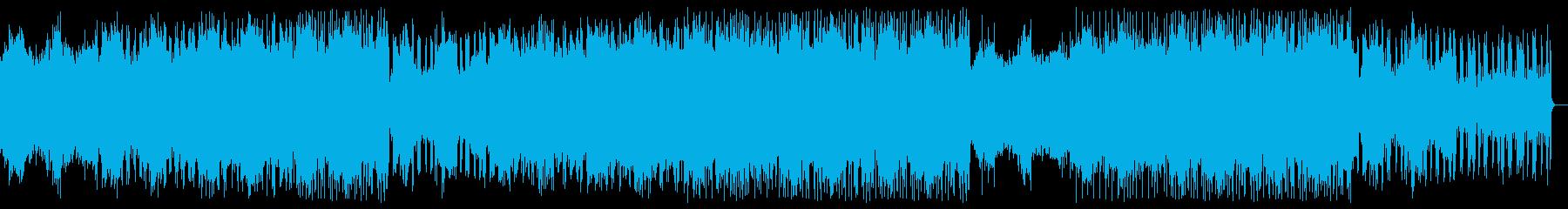 切ないエレクトロニカ・アンビエント風楽曲の再生済みの波形