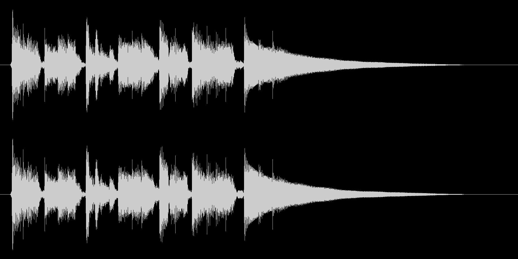 生演奏アコギのジャズ系おしゃれ~(短縮版の未再生の波形