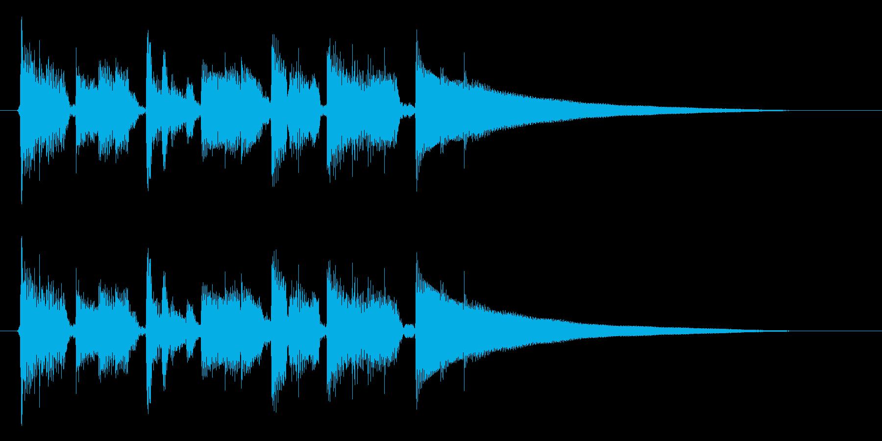 生演奏アコギのジャズ系おしゃれ~(短縮版の再生済みの波形