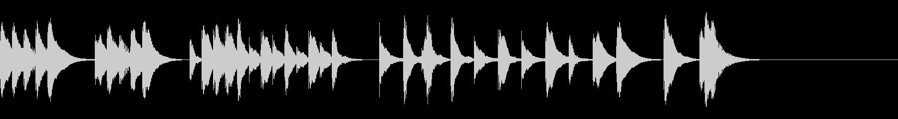 「トルコ行進曲」の木琴のかわいい曲!の未再生の波形