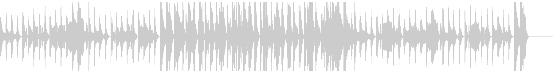 いたずらを企てるBGMの未再生の波形