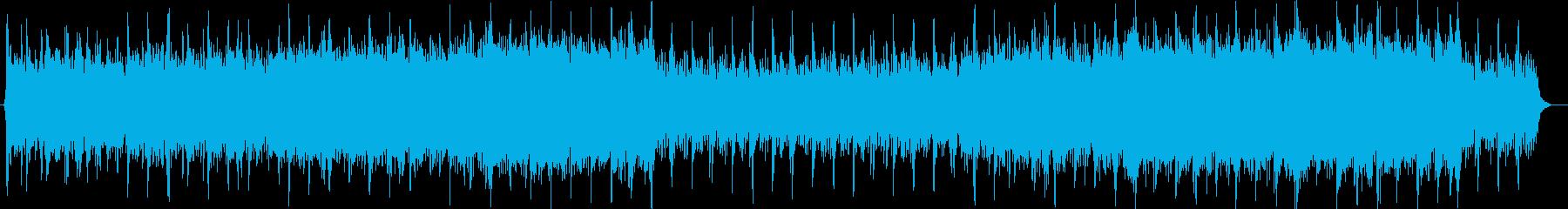 シミュレーションゲームの準備画面風BGMの再生済みの波形