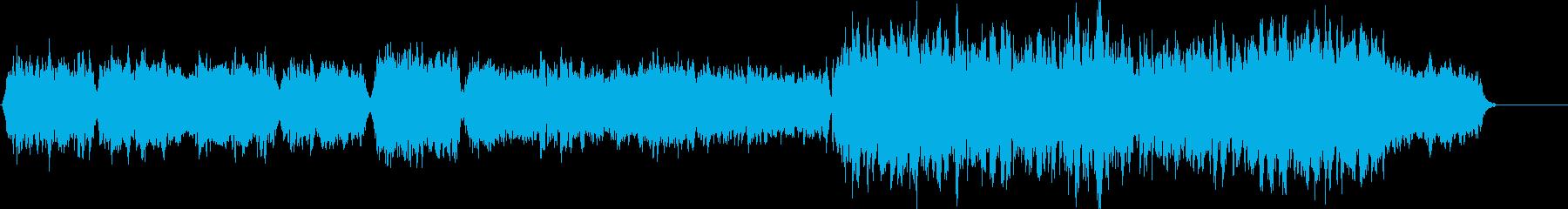 響きに一体感のあるメロディーの再生済みの波形