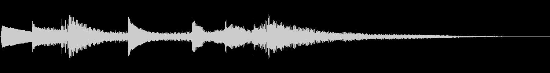 【生演奏】落ち着きのあるピアノジングルの未再生の波形