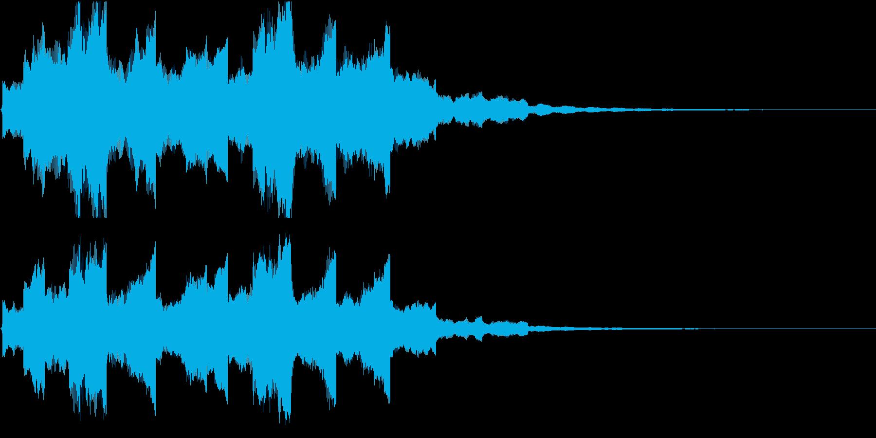 幻想的惑星着陸のような効果音の再生済みの波形
