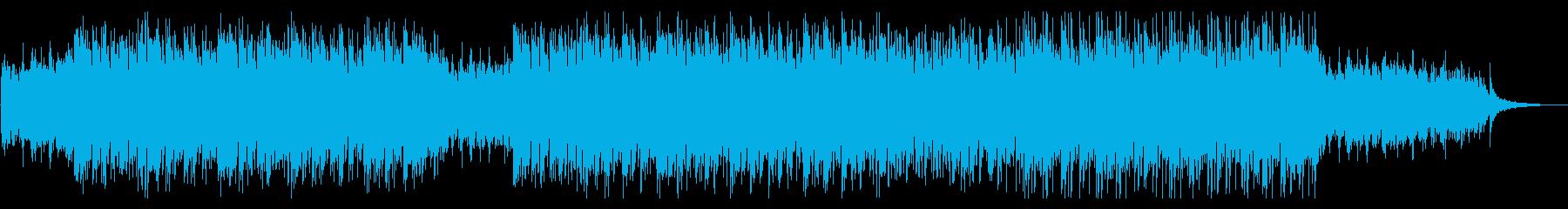 そよぐ風のようなヒーリング音楽の再生済みの波形