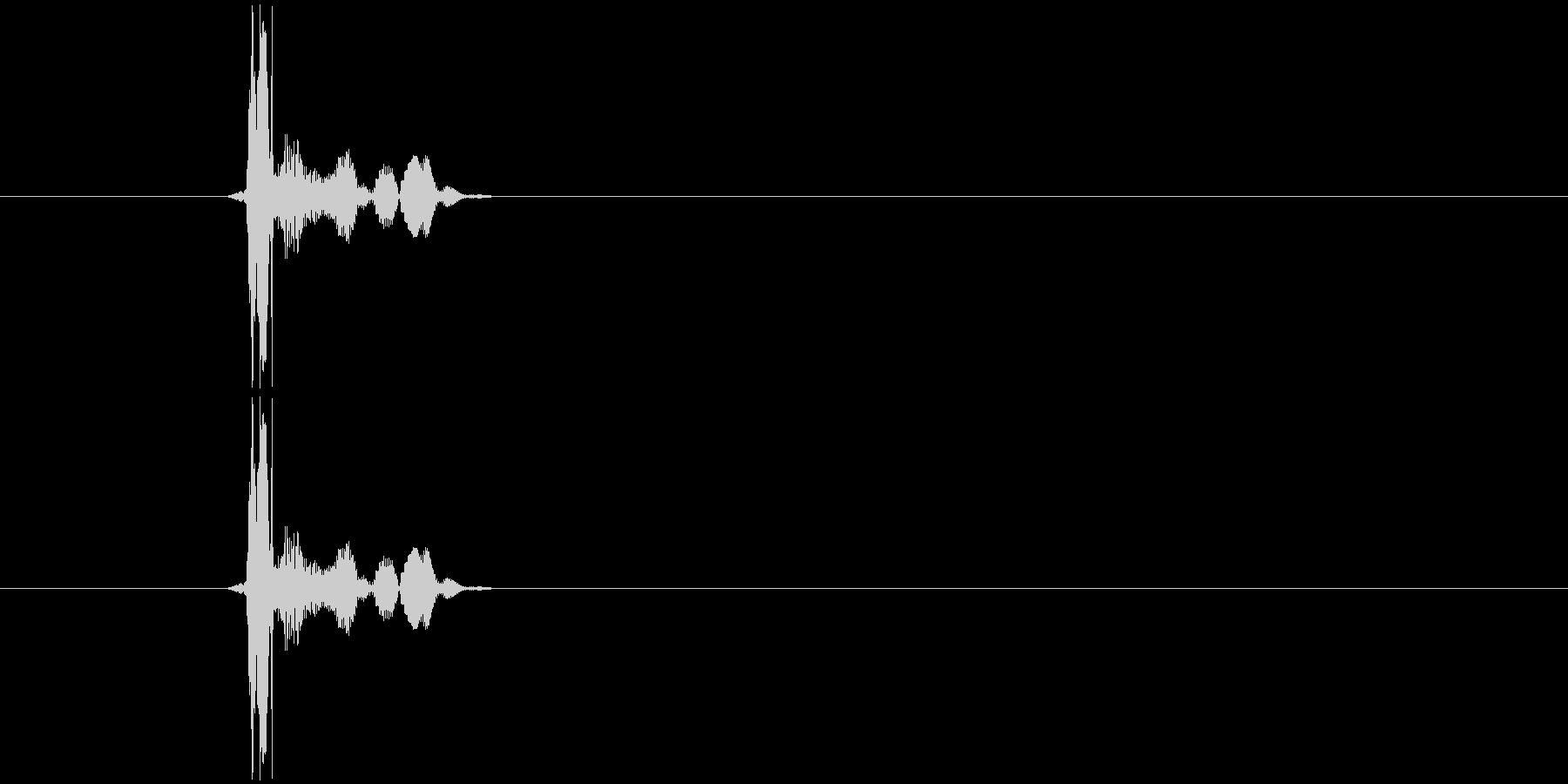 ポンッ  という感じの音。の未再生の波形