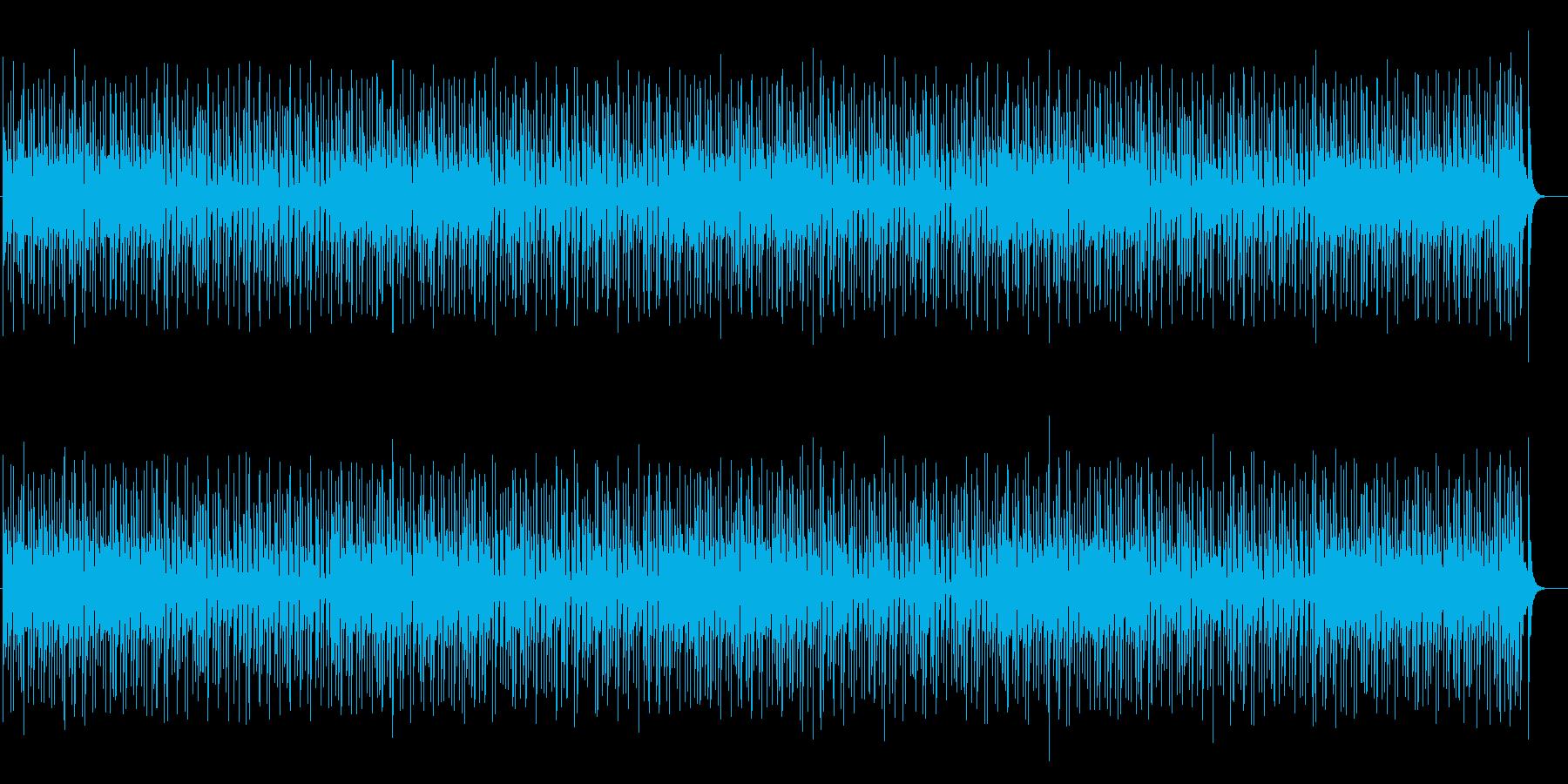 軽やかで明るく、元気が出るテンポの曲の再生済みの波形