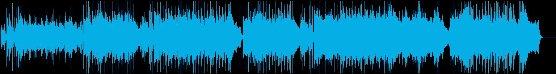 シンセリードのピアノバラードの再生済みの波形