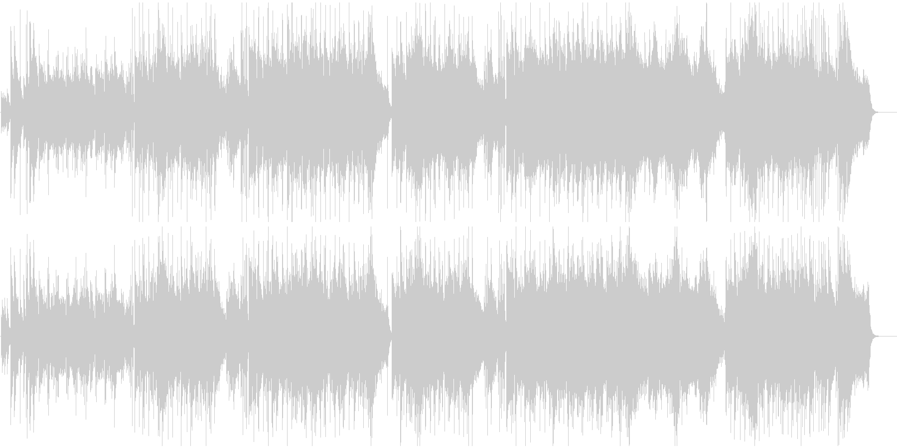 シンセリードのピアノバラードの未再生の波形