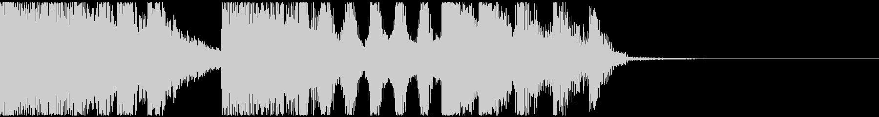 フューチャーベースなファンファーレの未再生の波形