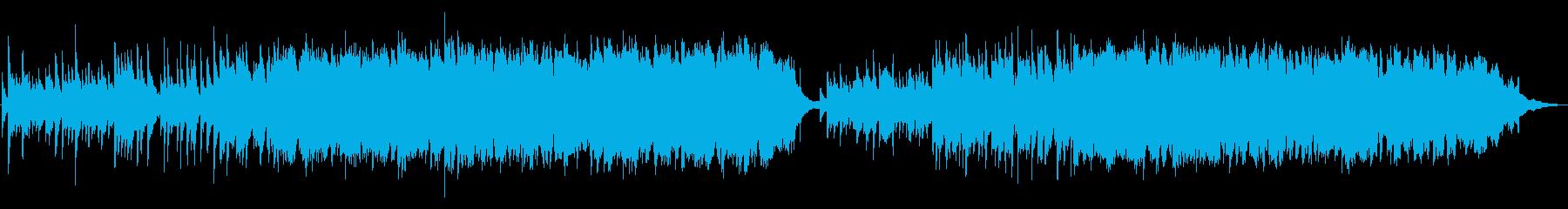 一弦ピアノとバイオリンのゆったり流れる曲の再生済みの波形