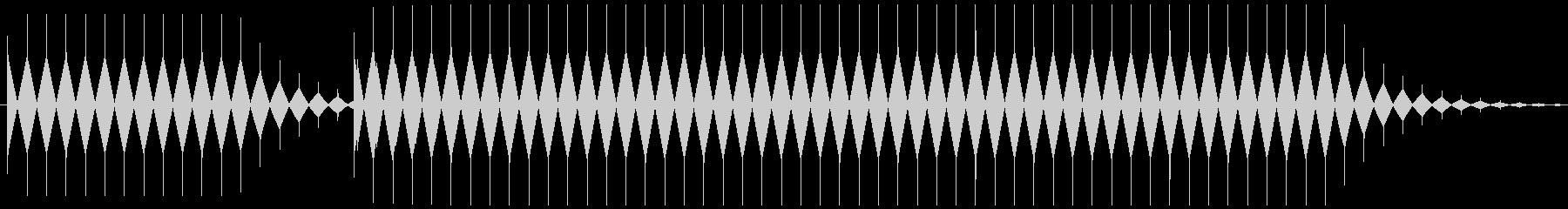 不正解音 ブブー (ノコギリ波)の未再生の波形