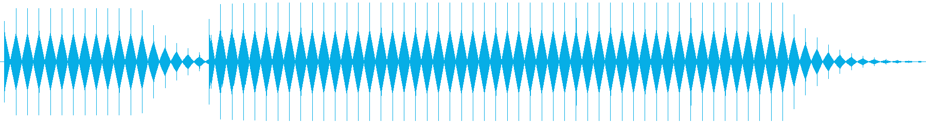 不正解音 ブブー (ノコギリ波)の再生済みの波形