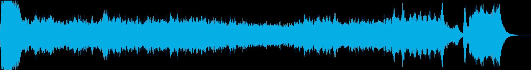 バッハ風の悲しげなパイプオルガンの再生済みの波形