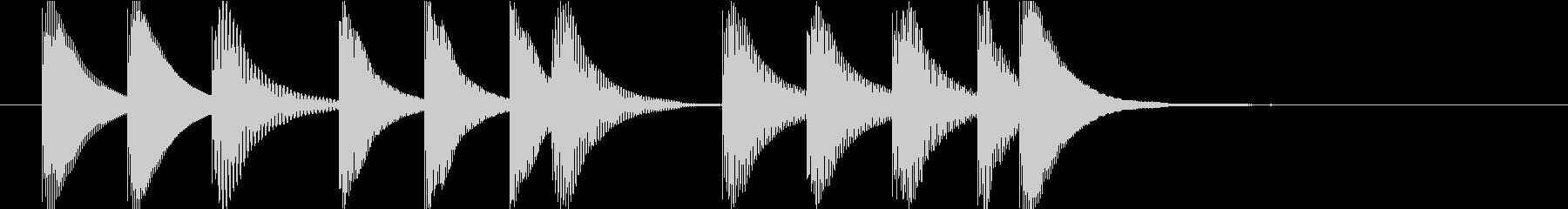 マリンバのクエスト・ミニゲームクリア音2の未再生の波形