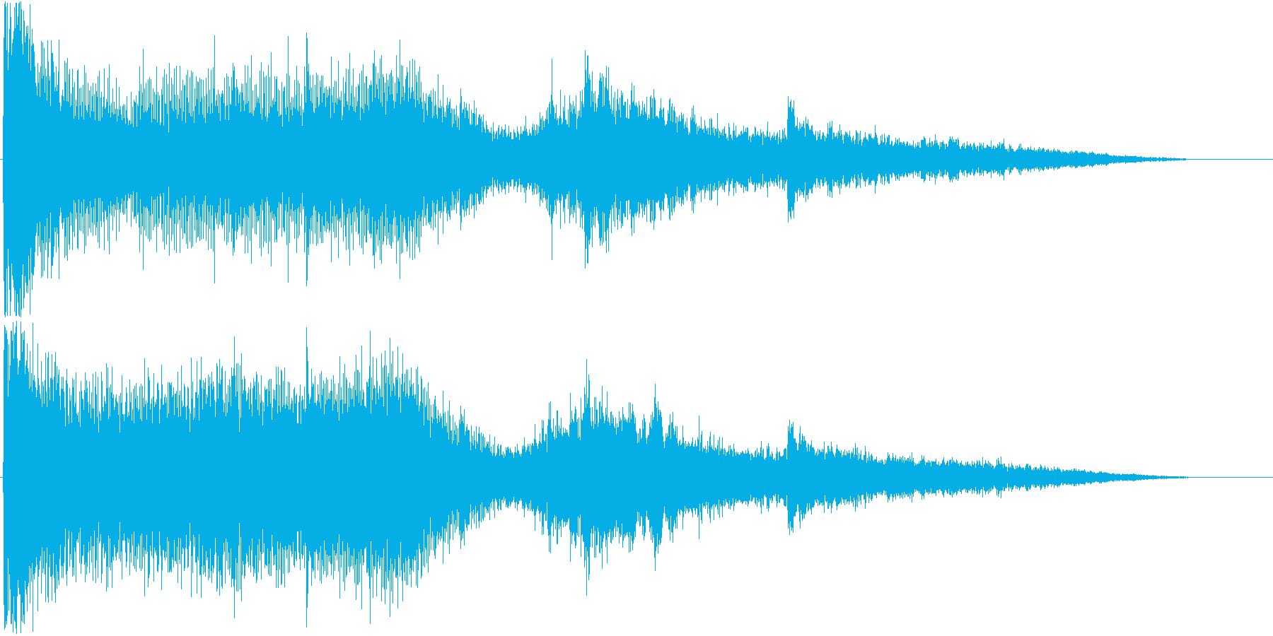 ホラーで使える効果音の再生済みの波形