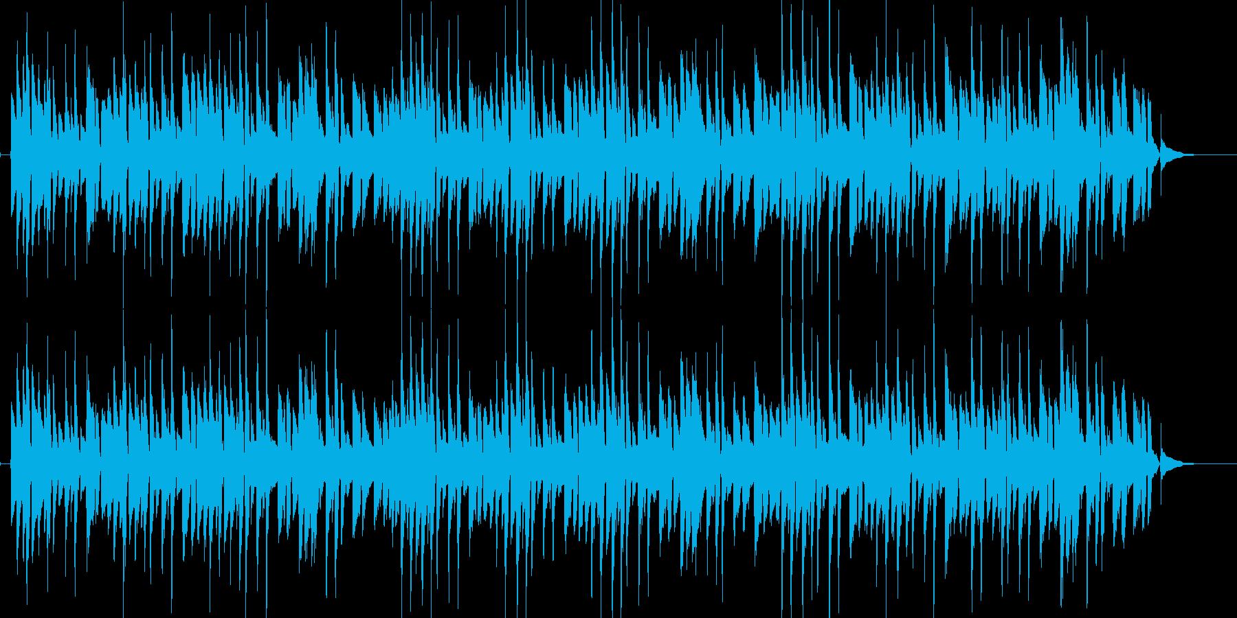 シンプルで軽快なボサノバギター演奏の再生済みの波形