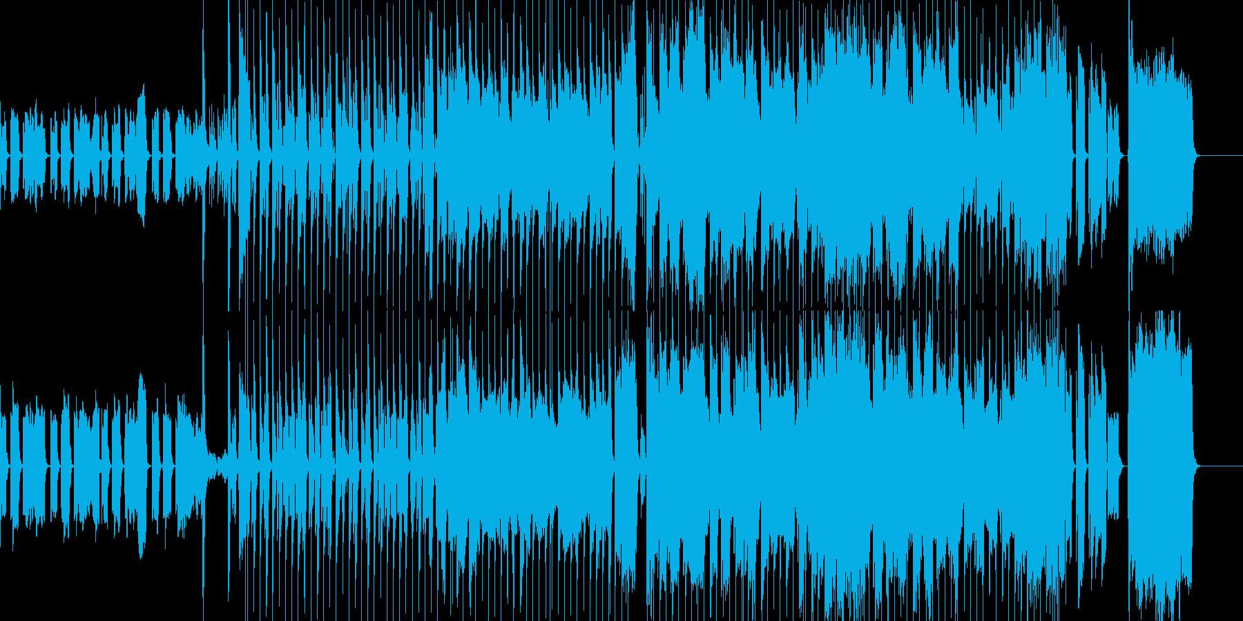 場面:平和な日常を描いた、気が抜ける曲の再生済みの波形