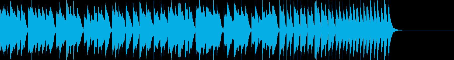 子供 ペット わんぱくカワイイ ピアノ曲の再生済みの波形