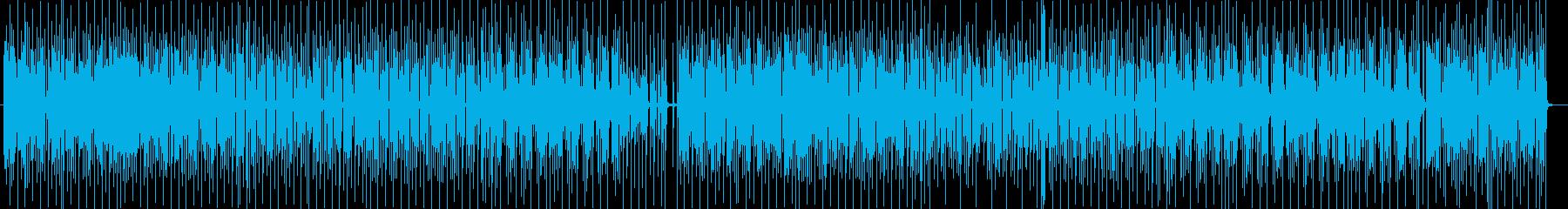 お洒落ファンキーシンセサイザーポップの再生済みの波形