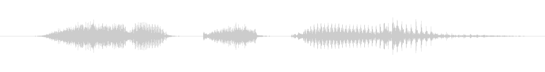 「6 PM」英語発音の未再生の波形