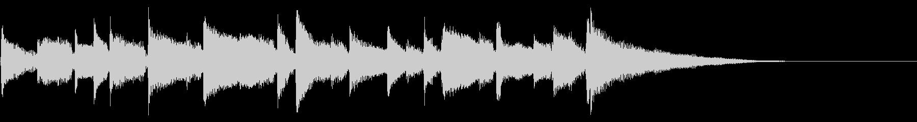 生音アコギの優しい音色のBGMの未再生の波形