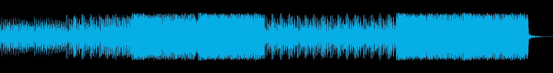 疾走感たっぷりのシンセ曲の再生済みの波形