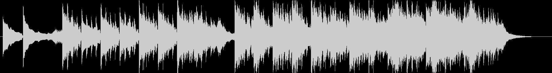 ピアノが印象的なエレクトロニカの未再生の波形