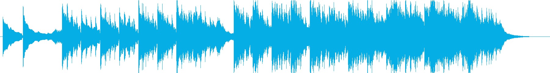 ピアノが印象的なエレクトロニカの再生済みの波形
