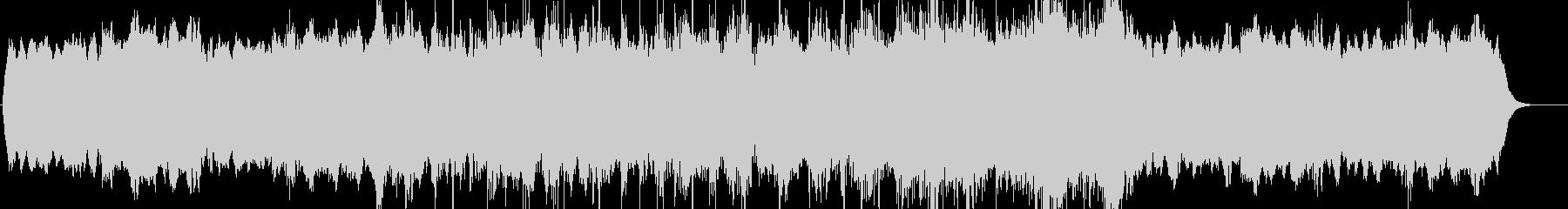シンプルなホラーミュージックの未再生の波形