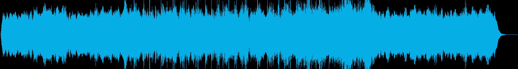 シンプルなホラーミュージックの再生済みの波形