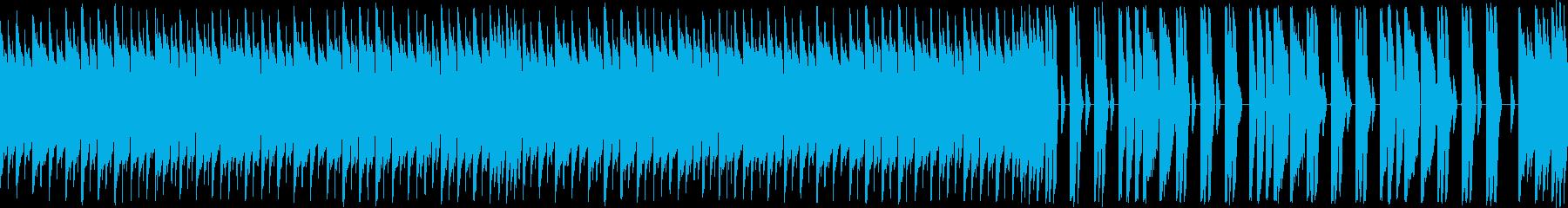 ゲーム:定番のスタートアップ:ループ再生の再生済みの波形