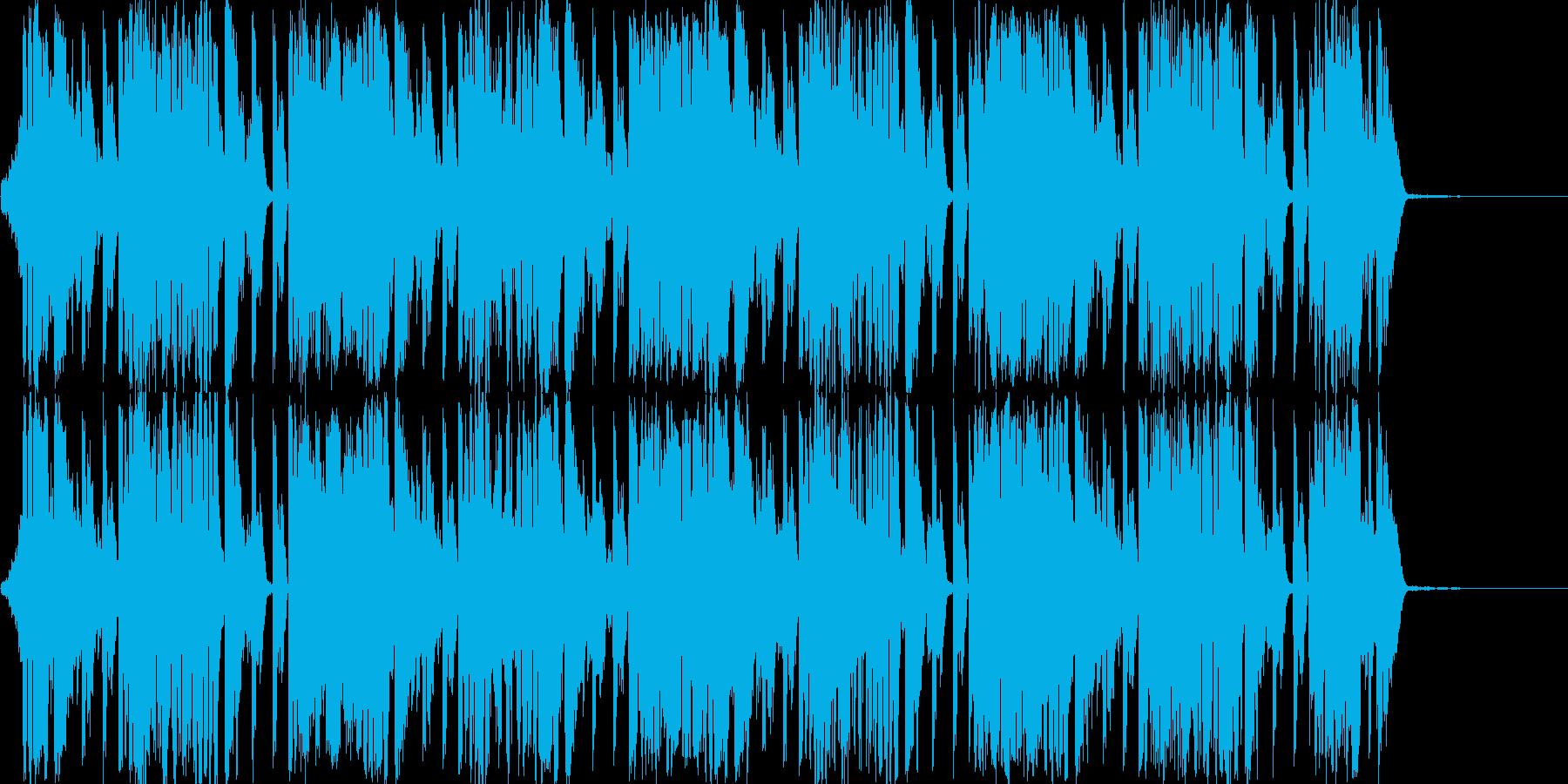 情報系のニュースBGMの再生済みの波形