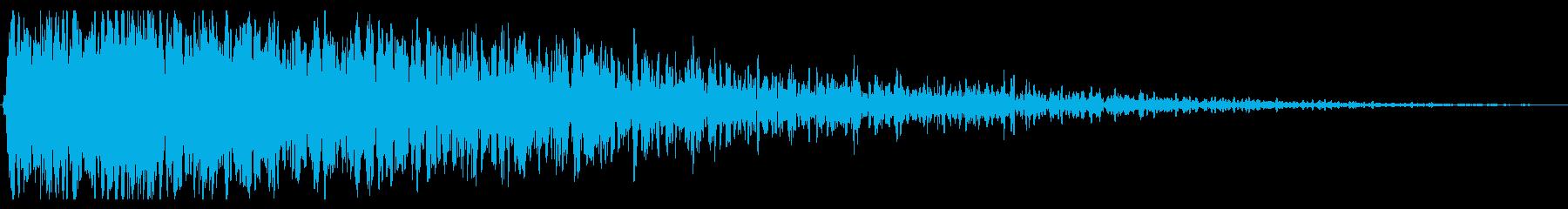 重い遠い原子爆発爆発の再生済みの波形