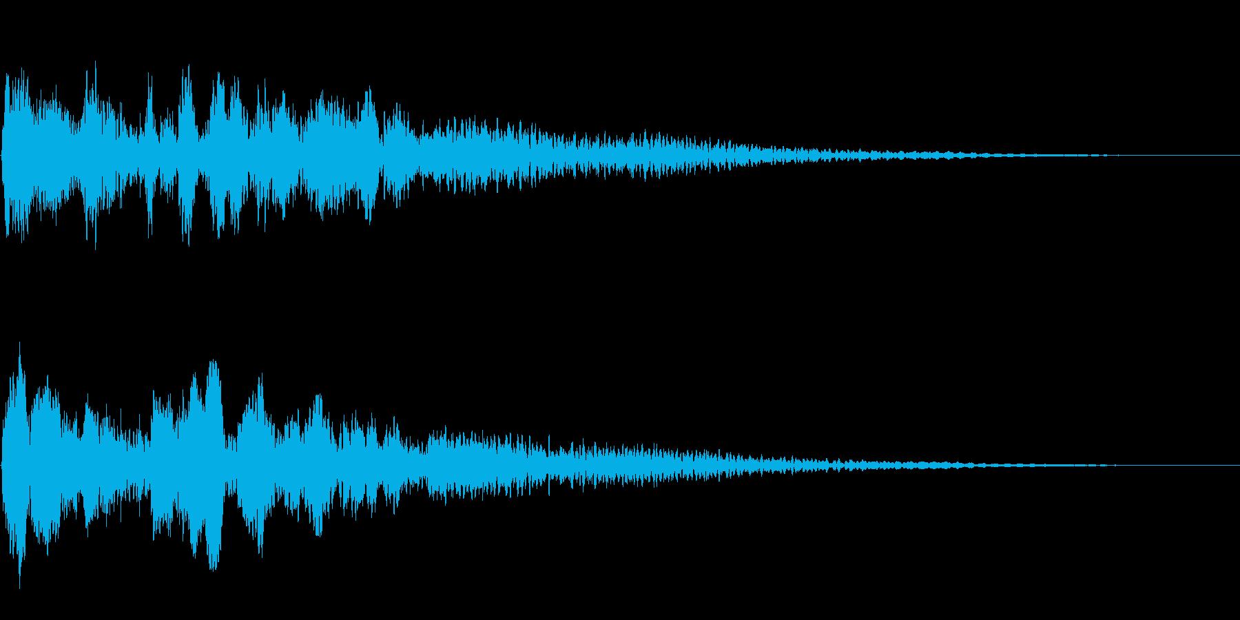 サスペンスに最適!ピアノの弦を弄ぶ音50の再生済みの波形