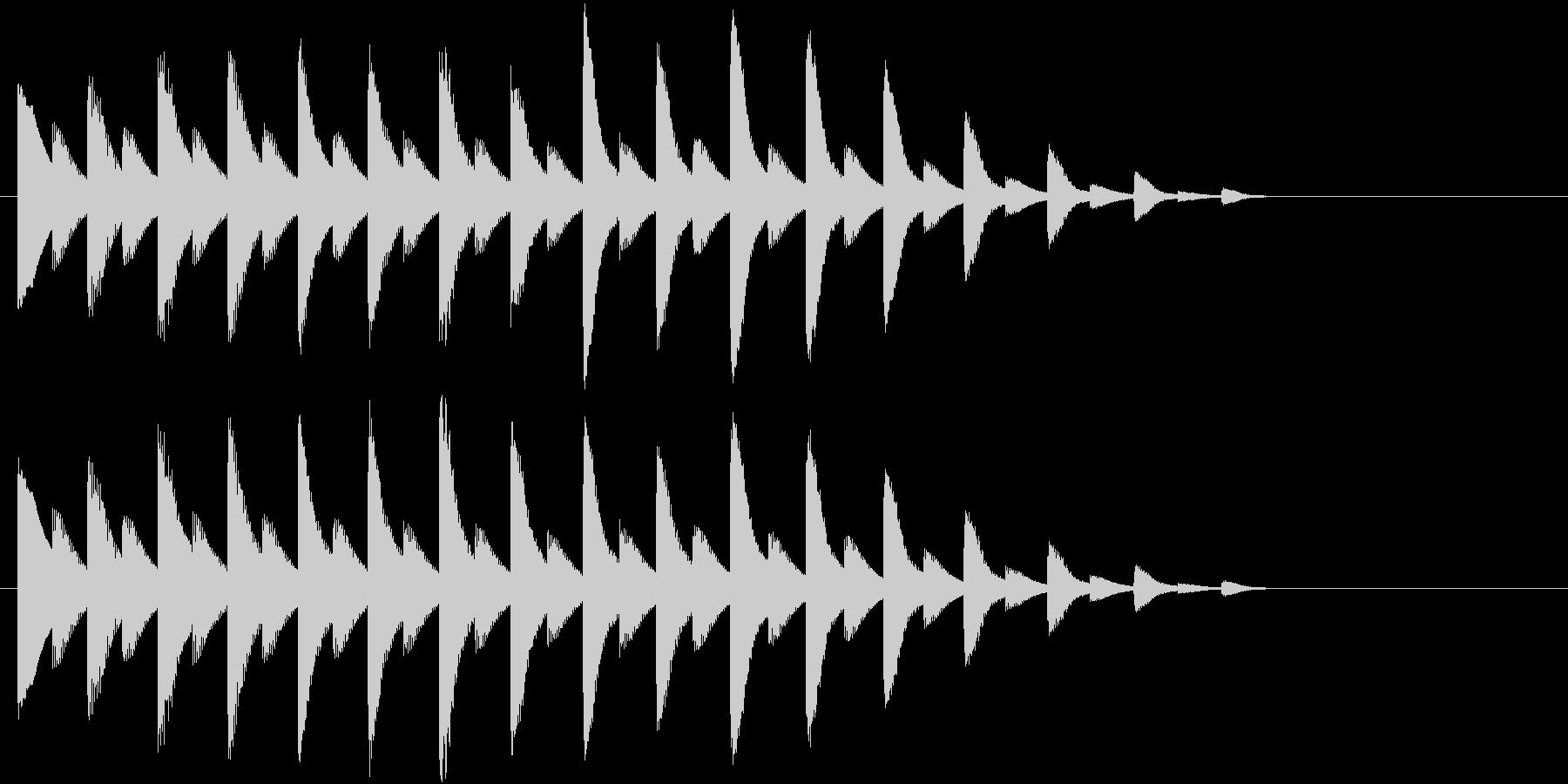 落ちるようなイメージのジングルの未再生の波形