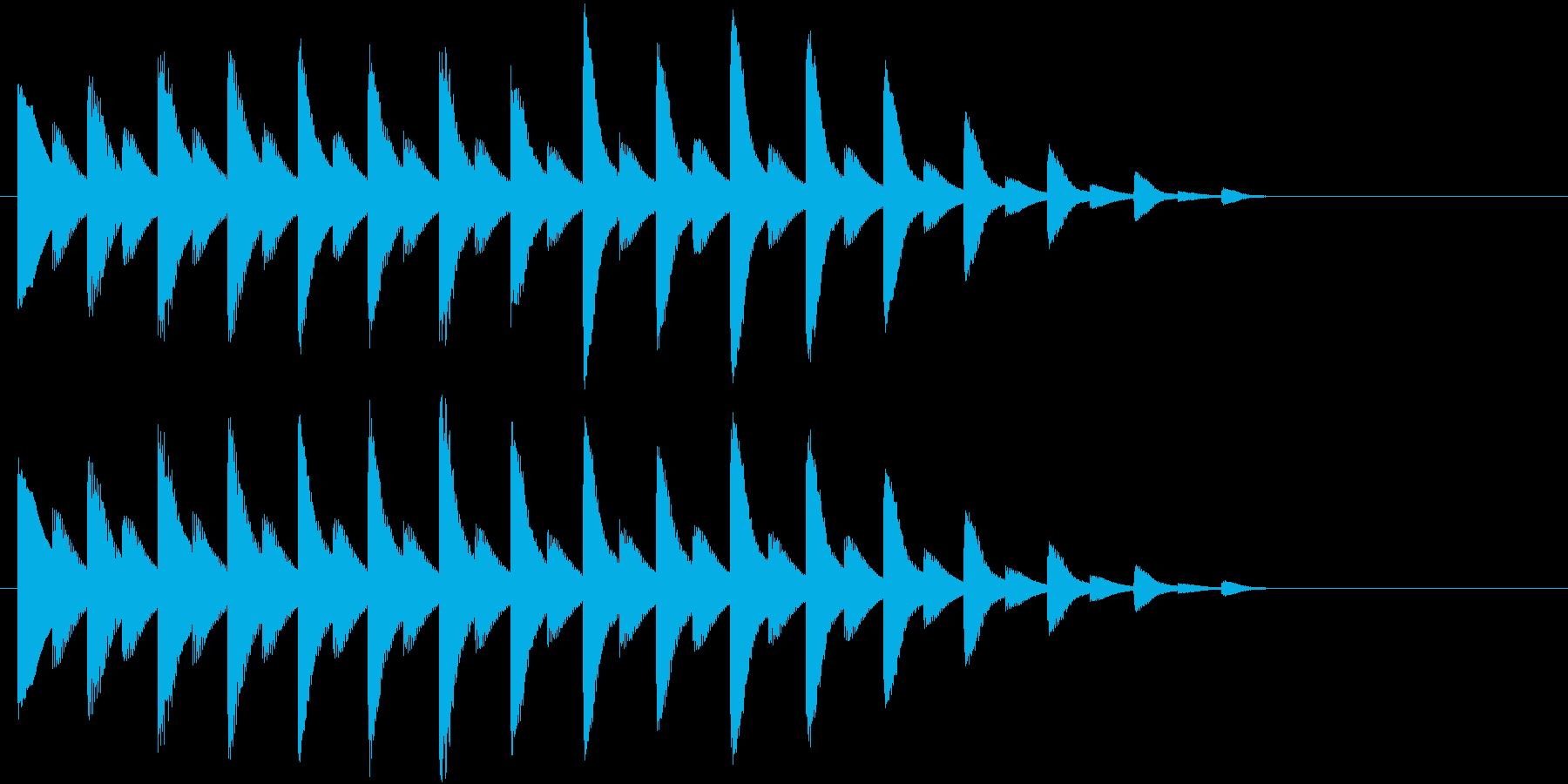 落ちるようなイメージのジングルの再生済みの波形