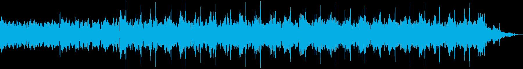 温かみのあるエレクトロ音楽の再生済みの波形