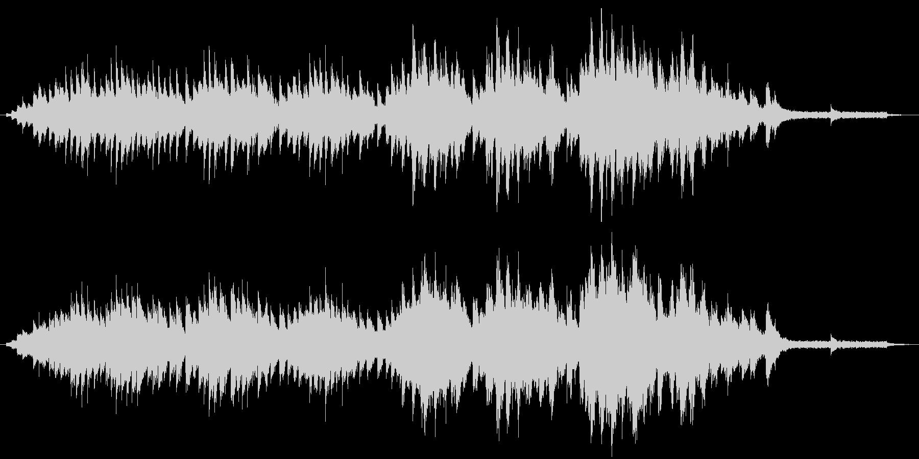 木枯らし吹く秋の風景のピアノソロの未再生の波形