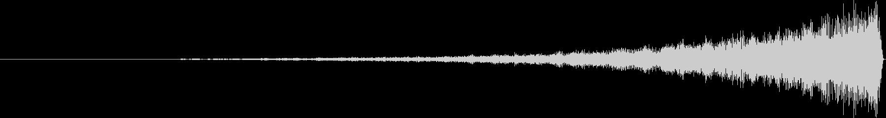 クイックメタルリバース3テキストインの未再生の波形