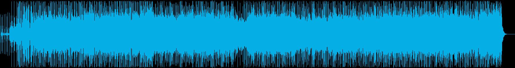 クールでかっこいい雰囲気のおしゃれな曲の再生済みの波形