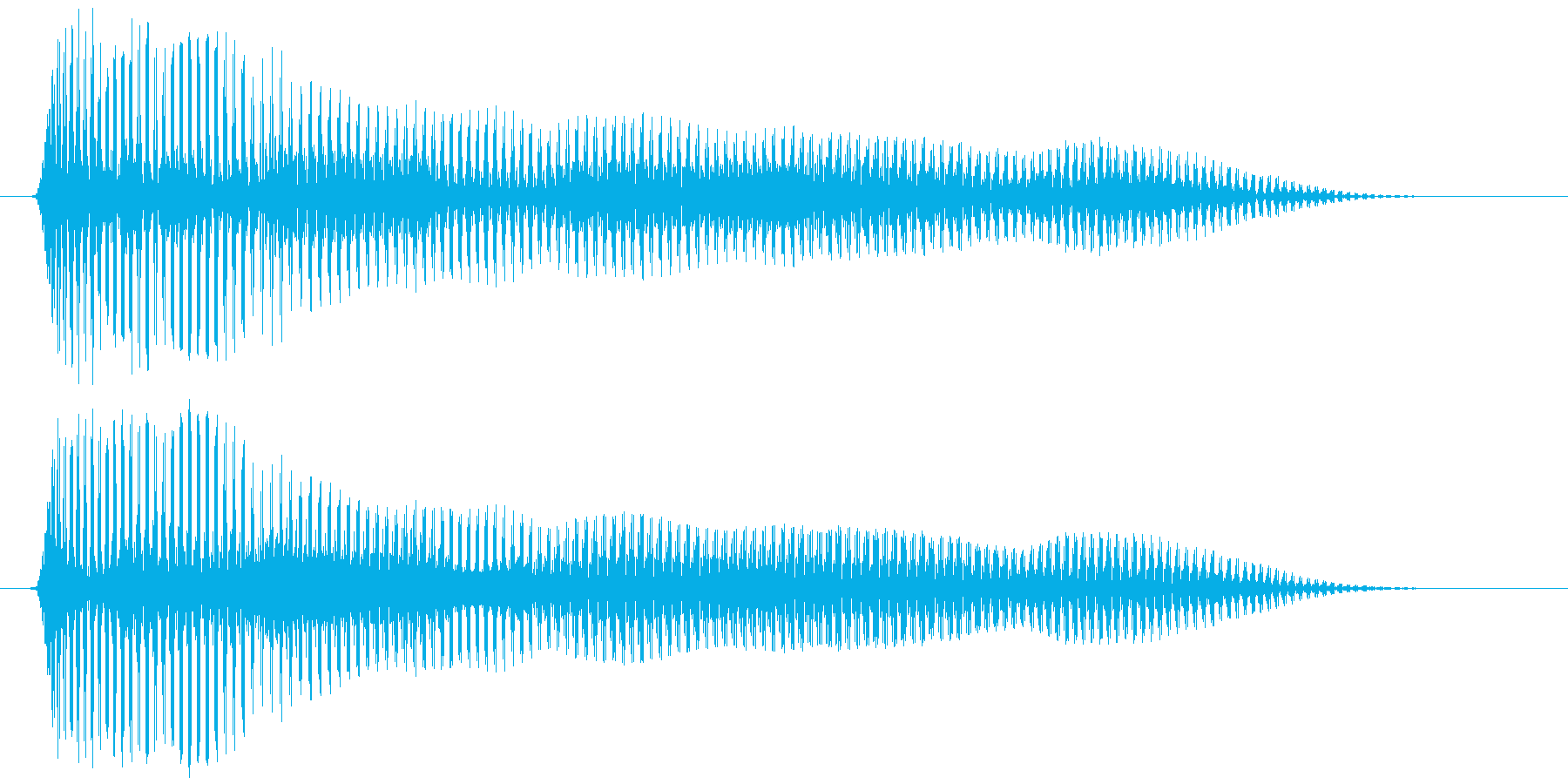 おなら、屁 (低め) プゥゥーの再生済みの波形