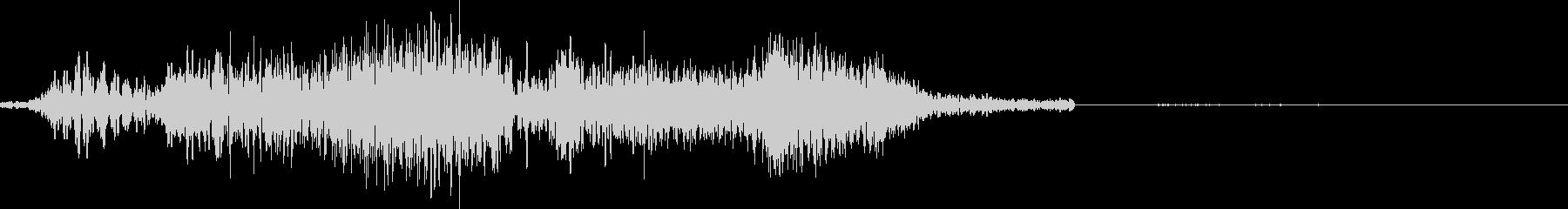 テキストフェードマトリックスノートベンドの未再生の波形