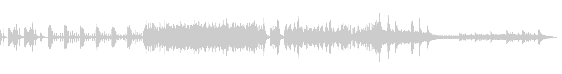 幻想的な雰囲気のピアノ曲の未再生の波形