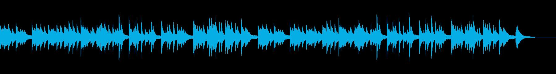 爽やかで力強さもあるピアノBGMの再生済みの波形