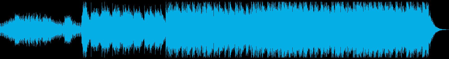 緊張感と期待感をあおるBGMの再生済みの波形