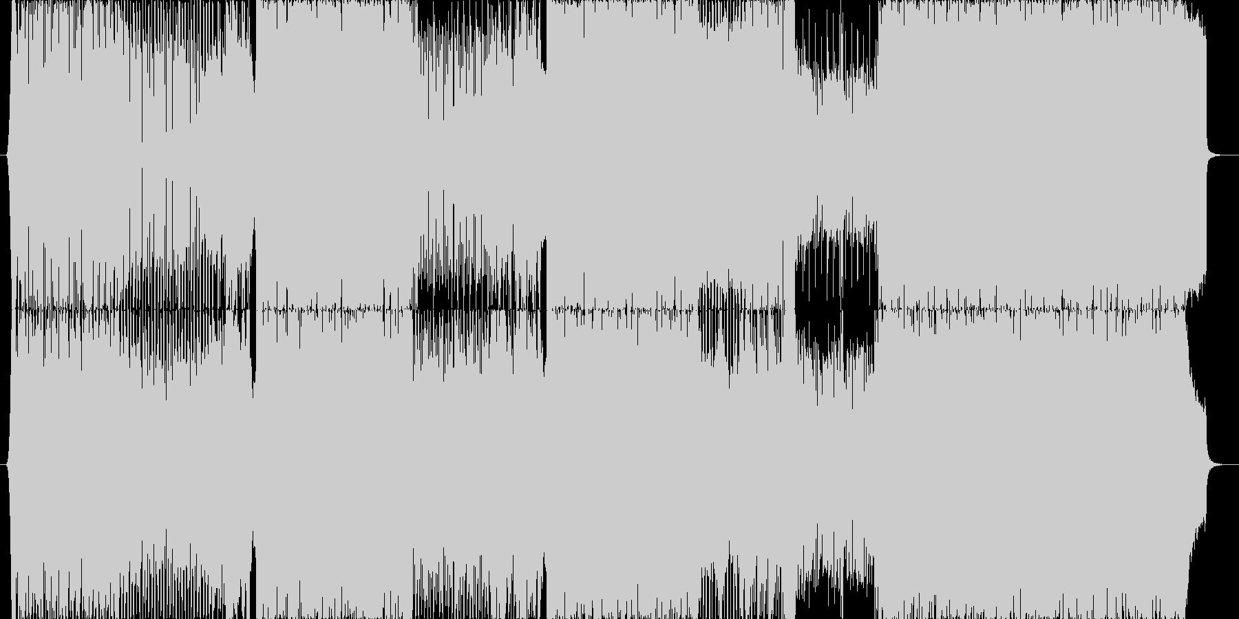 バンドにテクノ系のシンセを混ぜた楽曲の未再生の波形
