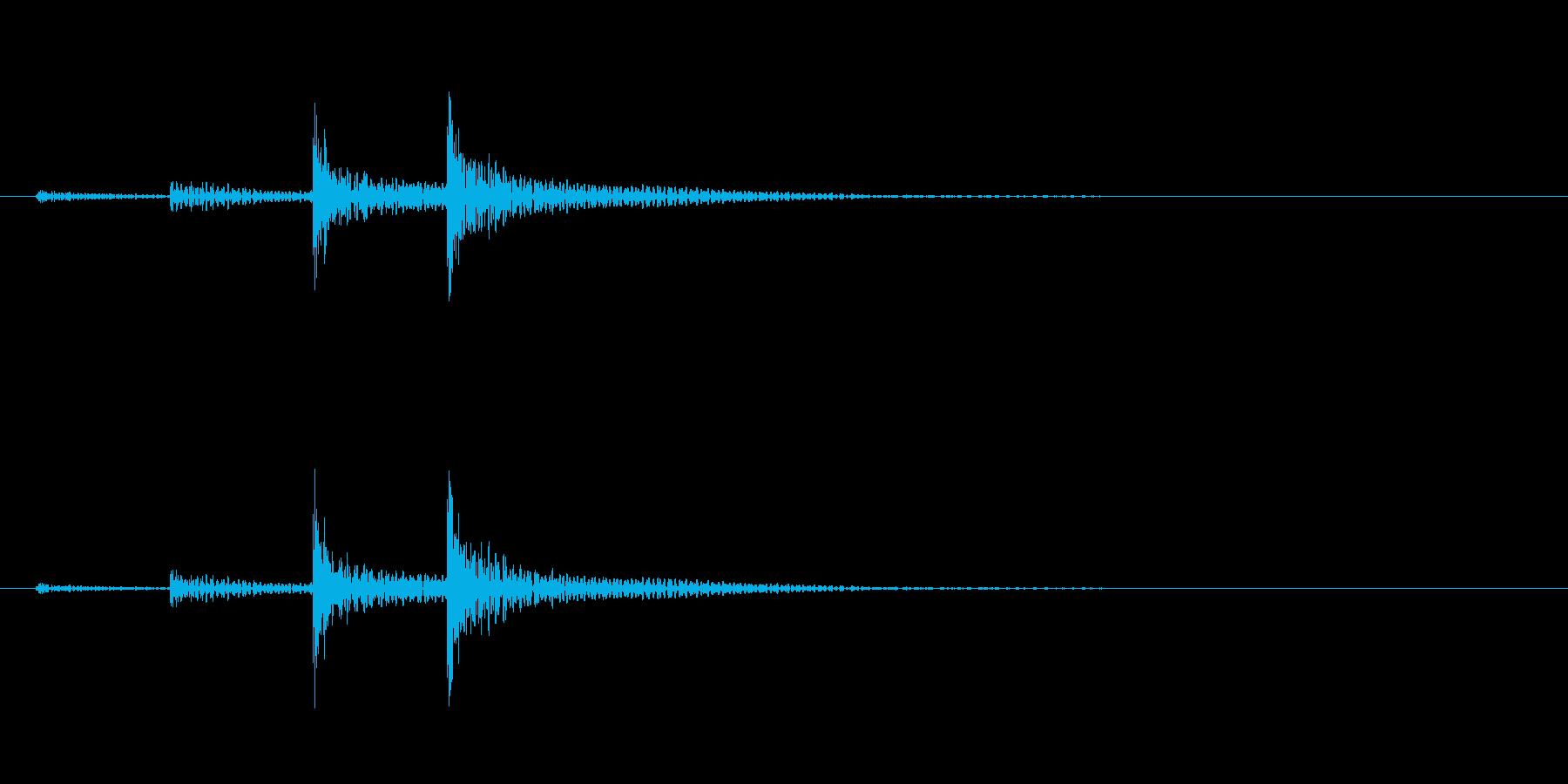 「ドン…」和太鼓の大太鼓フレーズ音+FXの再生済みの波形