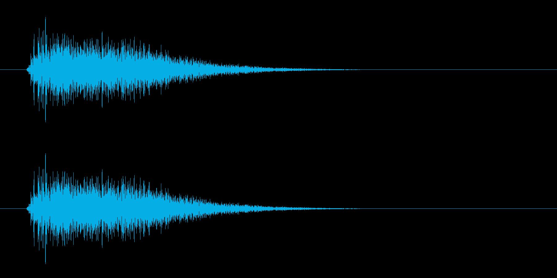 レーザー音-11-3の再生済みの波形